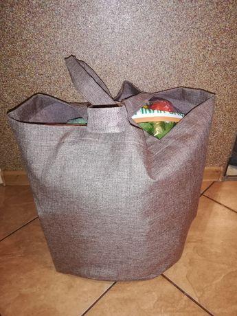 Wielka Big Torba na zakupy na ramię eko Handmade recykling z resztek