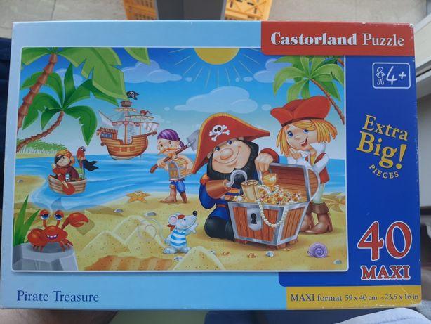 Puzzle 40 elementów Pirate Treasure Maxi Castorland