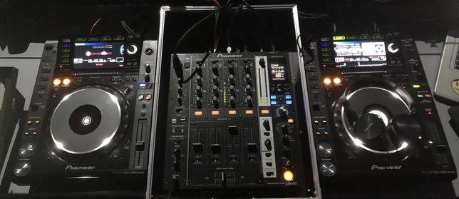 Konsola CDJ 2000 nexus + DJM 750K z Case