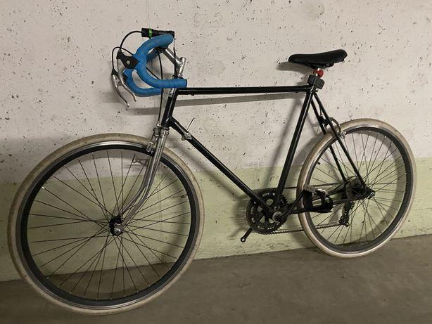 Rower szosowy miejski ostre koło kola 28 cali- okazja czarny mat