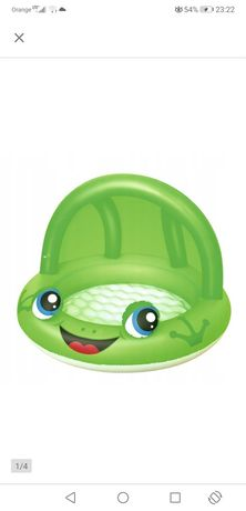 Basen dziecięcy brodzik żaba z daszkiem 26l