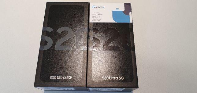 Nowy SAMSUNG GALAXY S20 ULTRA 5G G988/DS 12/128GB Gwar 24M FV VAT 23
