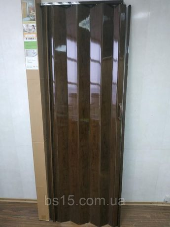 Дверь гармошка ширма ТЕМНЫЙ ДУБ 820х2030х0,6 мм