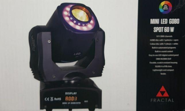 Lampa Fractal mini led gobo spot 60 W