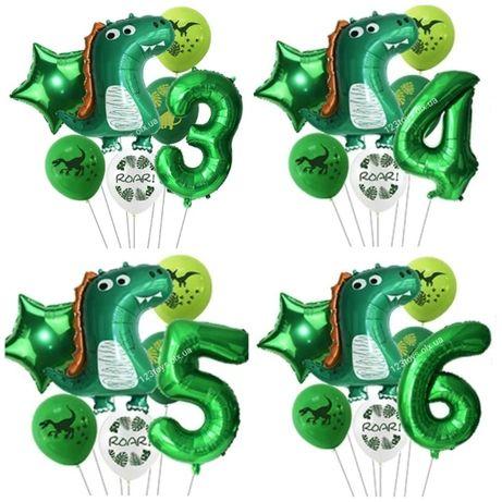 Набор 7шт.шариков Dyno на День рожденья Динозавры шарики для украшения