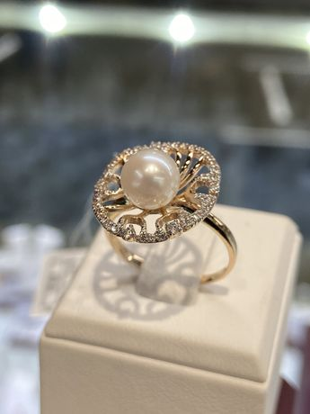 Кольцо, золото, Violet