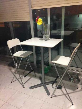 Mesa alta Cozinha/bar + 2 cadeiras - IKEA
