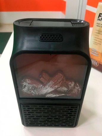 Мини обогреватель Heater 500 Вт в розетку, с подсветкой