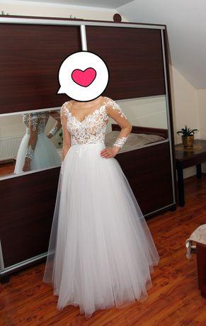 Suknia ślubna XS/S wzrost 170 stan idealny!