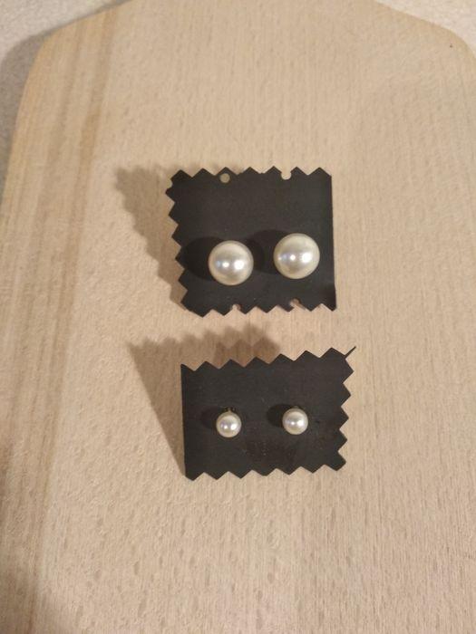 Kolczyki   nowe kuleczki białe Olsztyn - image 1