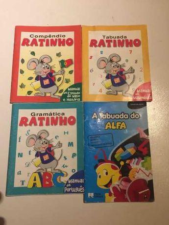 Ratinho tabuada, compêndio, gramática e tabuada Alfa
