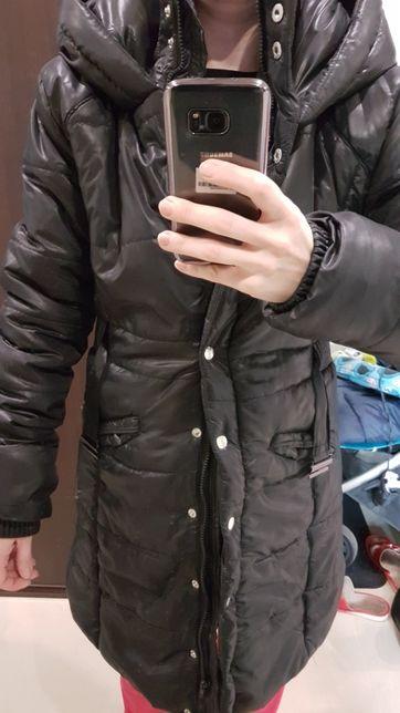Płaszczyk zimowy błyszczący- wyprzedaż za dużych ubrań
