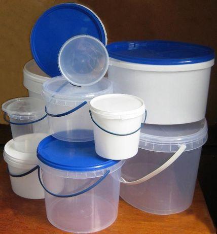 Ведра пластиковые пищевые 0.5л; 1л;2,3л; 3л; 3.3л; 5л;5,6л;10л;11л;20л