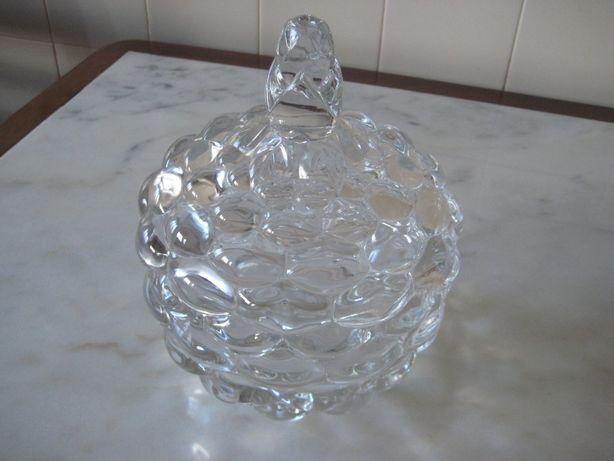 Bomboneira grande,vidro,anos 80(Nunca usada)