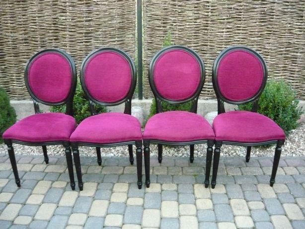 4 krzesła czarne