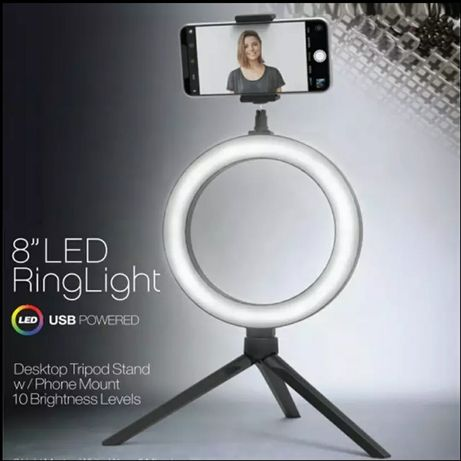Luz redonda maquilhagem videos fotografias