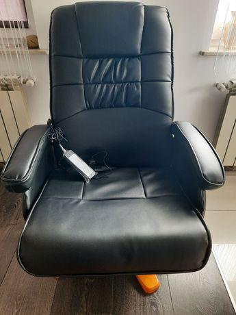 Okazja - elegancki fotel wibracyjny z podnóżkiem GRATIS