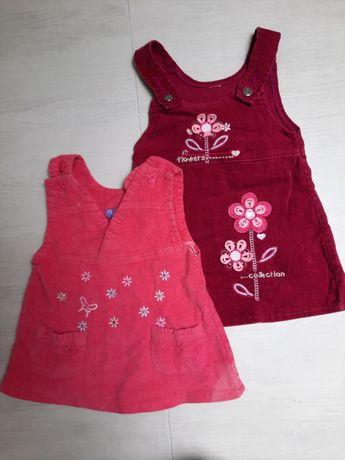 Sukienka tunika 80-86 (2szt)