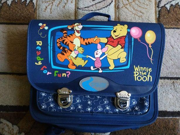 Plecak szkolny dla dziecka teczka tornister Kubuś Puchatek Niebieski