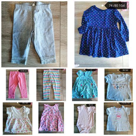 Sprzedam ubranka dla dziewczynki wiosna /lato 74 80