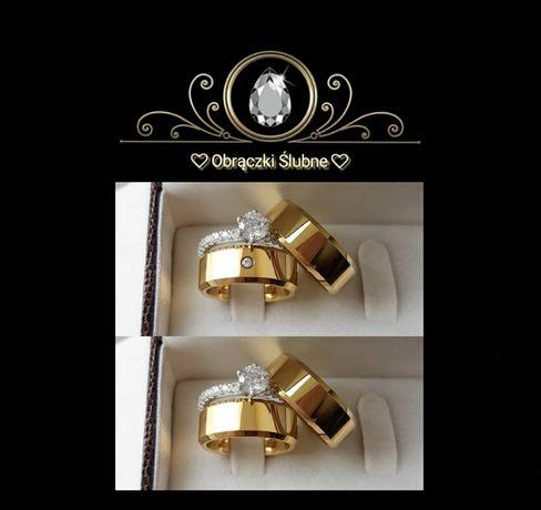 ZWIERCIADŁO MIŁOŚCI - Piękne Złote Obrączki Ślubne