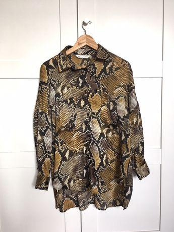Zara koszula z wężowym wzorem snake print XS S