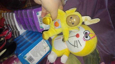 ИГРУШКА желтый кот и желтый телепузик TOMY набором