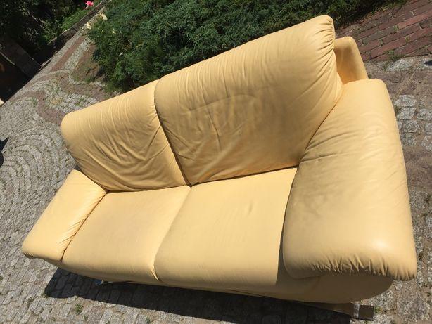 Kanapa, sofa skórzana 3-osobowa , skora naturalna