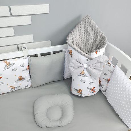 Набор постельного в кроватку защита бортики  комплект