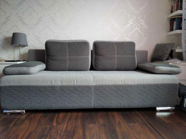 Kanapa rozkładana sofa szara grafitowa