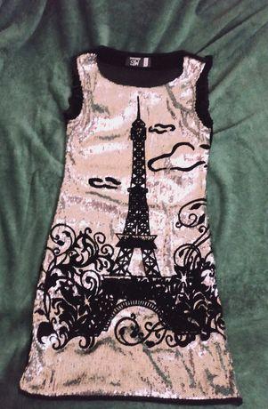Нарядное платье на девочку (рост 140-146)