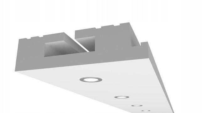 Sufit halogenowy z Ledem - Punktowy / Halogenowy Model H12 60x175mm