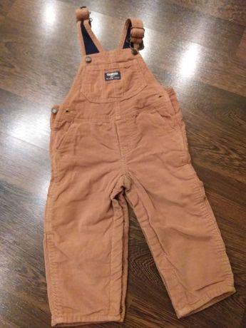 Комбинезон, полукомбинезон, штаны вельветовые Oshkosh 18 мес., Картерс