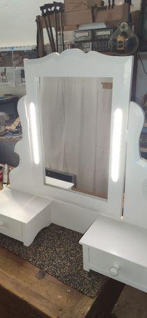 Espelho toucador de cómoda iluminado