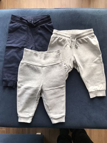 Spodnie dresowe H&M i Carter's r. 68-74