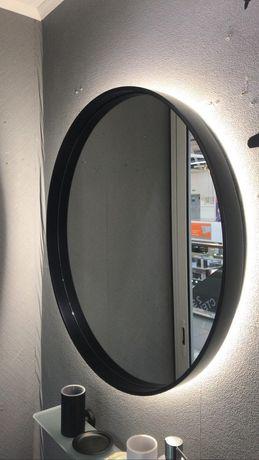 Кругле лофт дзеркало в металевій рамі