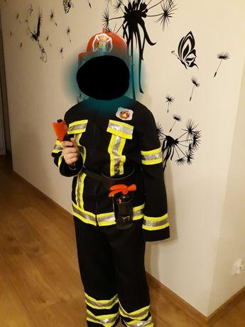 Strój strażak + akcesoria 164