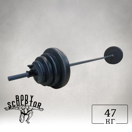 Штанга 2 м   47 кг (від 47 кг - до 87 кг)  ABS покритя