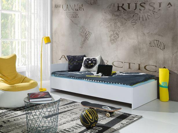 Dla dzieci i młodzieży nowe łóżko z materacem modne kolory