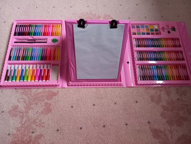 Детский набор для рисования чемодан творчества мольберт 208 предметов