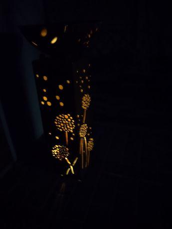 Kolumna ozdobna podświetlana od środka diodami led, z misą.