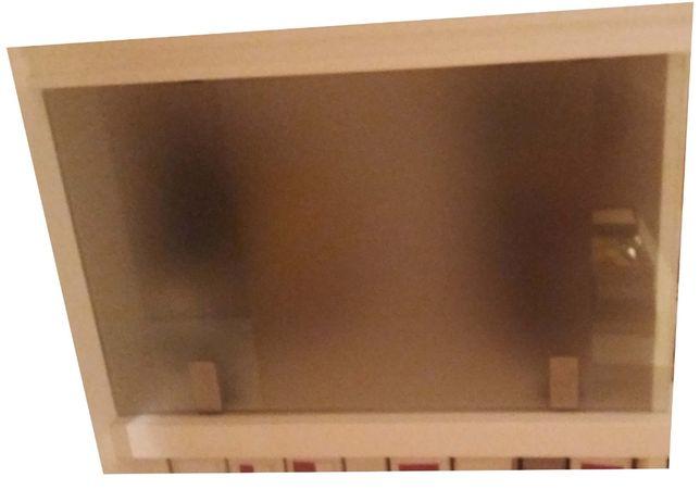 drzwi szklane + półki