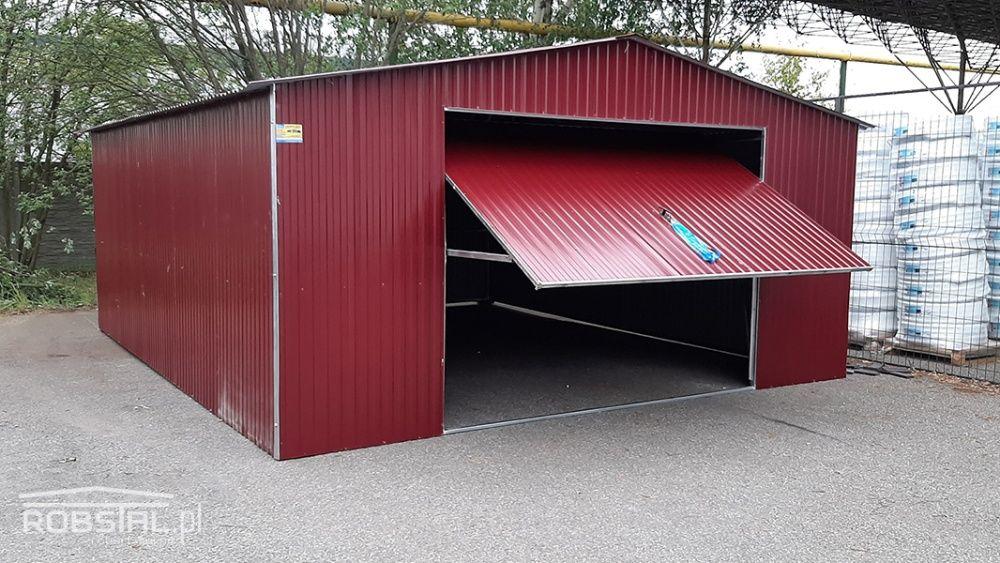 Garaż blaszany 5x6m z bramą uchylną blacha w kolorze garaże blaszaki Kluczbork - image 1