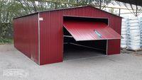 Garaż blaszany 5x6m z bramą uchylną blacha w kolorze garaże blaszaki