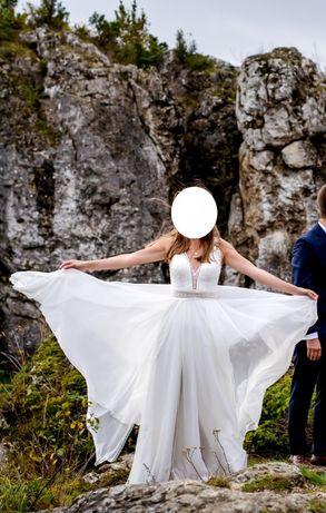 Suknia ślubna offwhite