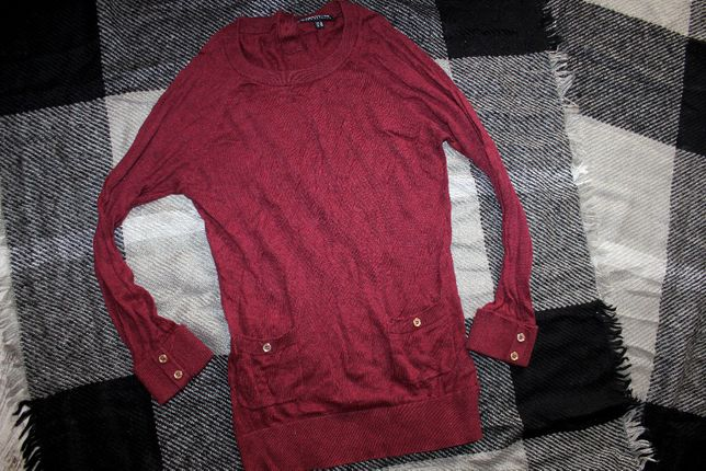 Кофта свитер реглан бордовый на xs-s