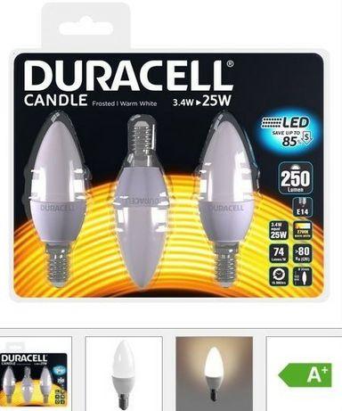 Żarówki LED E14 Świeca - DURACELL Zestaw 3 szt