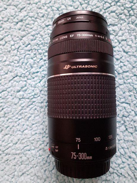 Obiektyw fotograficzny CANON ZOOM LENS EF 75-300 mm 1:4-5,6 III USM