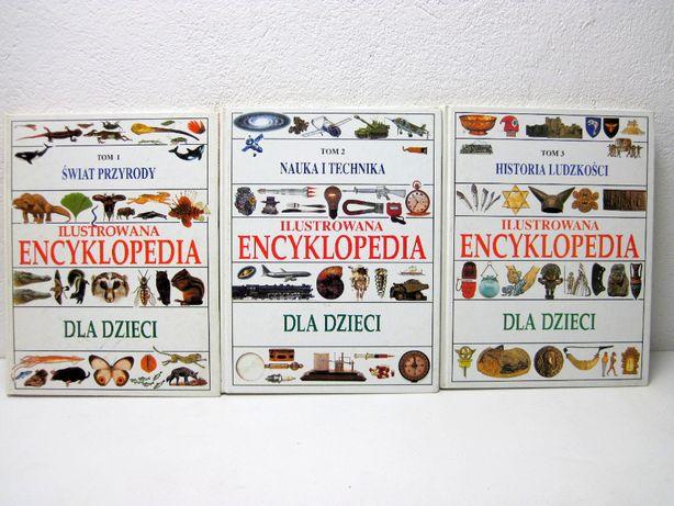 Ilustrowana Encyklopedia dla Dzieci - 3 Tomy