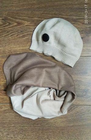 Komplet jesienny H&M czapka i chusta